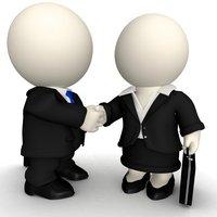 3D Business handshake